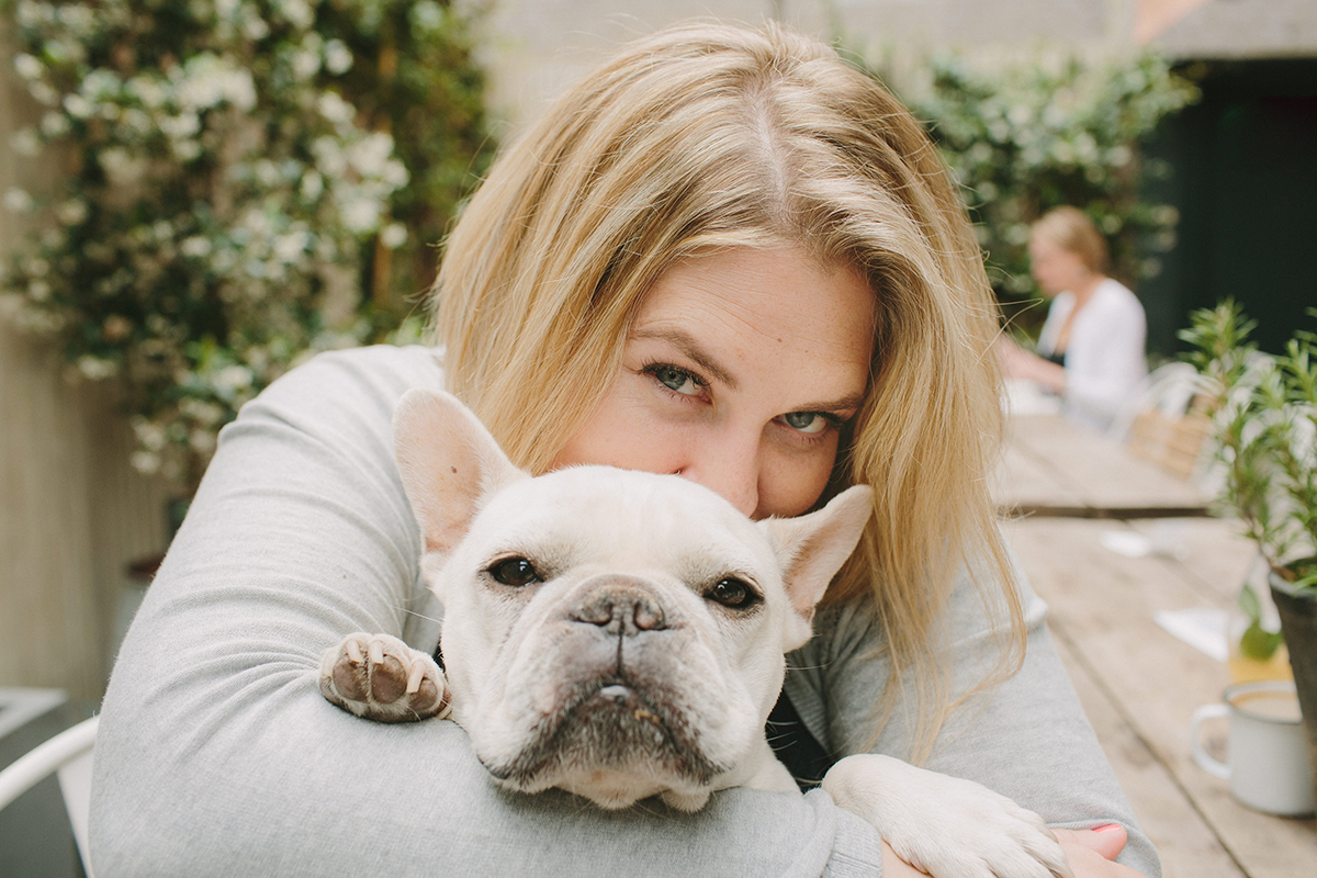 J.Nichole Smith and her frenchie, Charleston