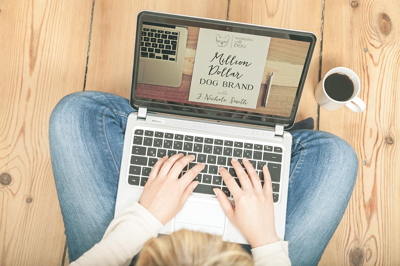 petpreneur working on million dog brand homework