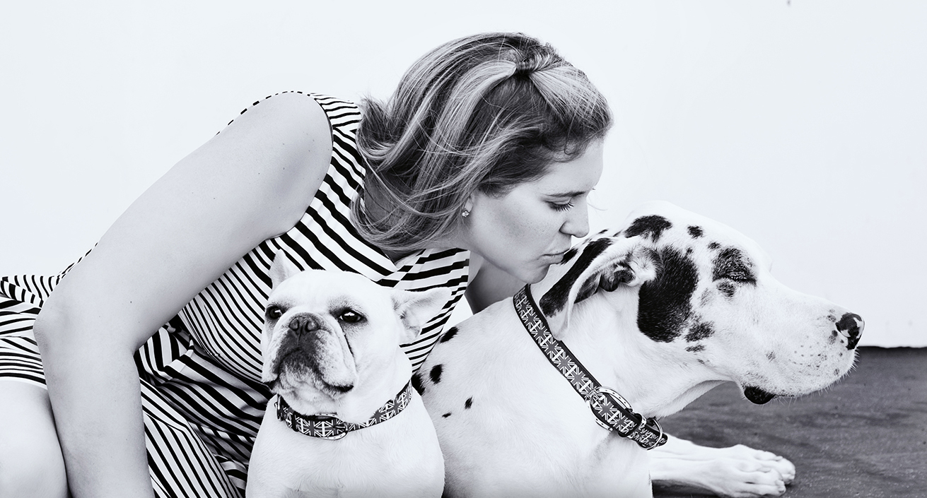 J.Nichole Smith with dog Charlie & Olivia (2004-2015)