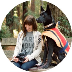 Natalia Martinez of the Labs & Co and her dog willow