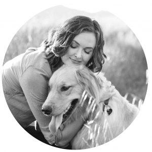 Copywriter Jennifer Caudill and her dog Poppy