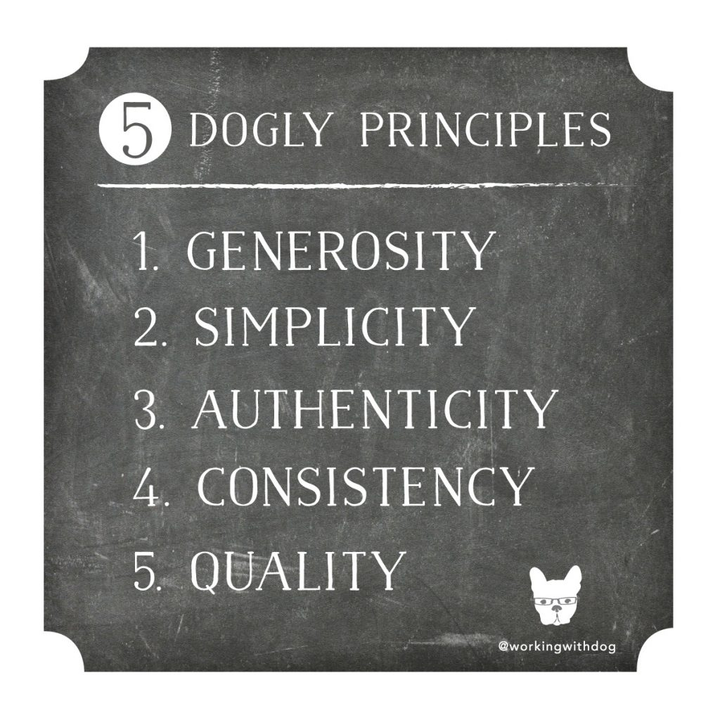 working with dog's 5 dogly principles