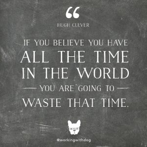 "inspirational motivational quote: ""If you believe you have all the time in the world, you are going to waste that time."" -hugh culver"