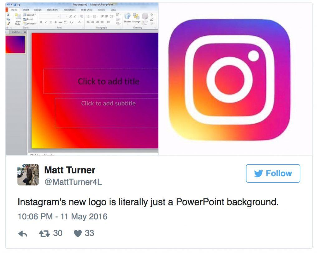 New instagram logo love it or hate it working with dog powerpointtweer toneelgroepblik Images