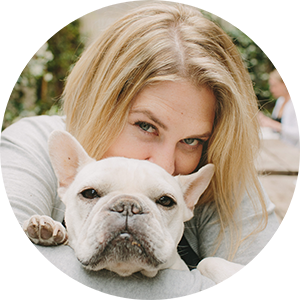 Pet photographer and marketing expert J.Nichole Smith with her French Bulldog Charlie