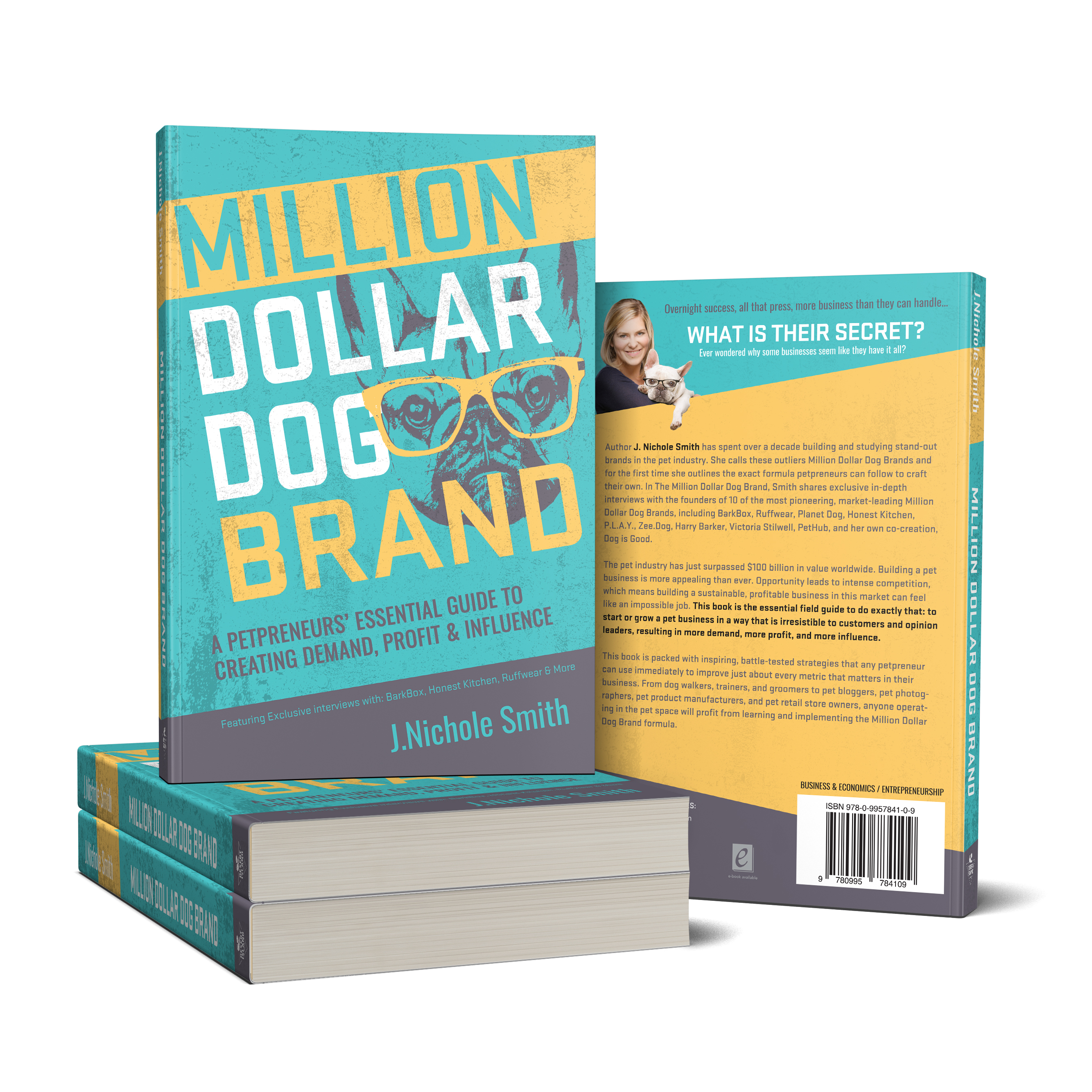 Million Dollar Dog Brand Book Promo Kit - working with dog -