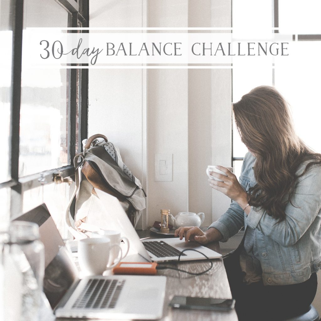 30 Day Brand Builders Balance Challenge